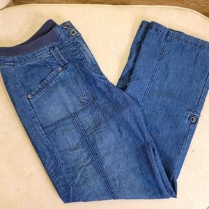 Chicos Mid Rise Jeans With Pockets Size 1.5
